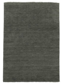 Handloom Fringes - Dunkelgrau Teppich  250X350 Moderner Dunkelgrau Großer (Wolle, Indien)