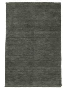 Handloom Fringes - Dunkelgrau Teppich  140X200 Moderner Dunkelgrau (Wolle, Indien)