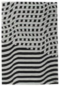 Passages Handtufted - Schwarz/Grau Teppich  200X300 Moderner Schwartz/Hellgrau/Türkisblau (Wolle, Indien)