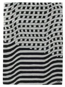 Passages Handtufted - Schwarz/Grau Teppich  140X200 Moderner Schwartz/Hell Grün (Wolle, Indien)