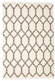 Renzo Teppich  160X230 Echter Moderner Handgewebter Beige/Hellgrau (Wolle, Indien)