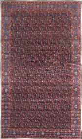 Senneh Teppich 368X639 Echter Orientalischer Handgeknüpfter Dunkelbraun/Lila Großer (Wolle, Persien/Iran)