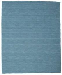 Kelim Loom - Blau Teppich  250X300 Echter Moderner Handgewebter Türkisblau/Blau Großer (Wolle, Indien)