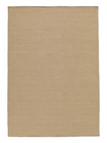 Kelim Loom - Beige Teppich  140X200 Echter Moderner Handgewebter Beige/Braun (Wolle, Indien)