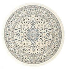 Nain Emilia - Cream/Hell Blau Teppich  Ø 150 Orientalischer Rund Beige/Hellgrau ( Türkei)