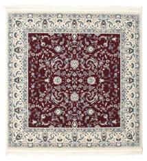 Nain Florentine - Dunkel Rot Teppich  150X150 Orientalischer Quadratisch Beige/Hellgrau ( Türkei)