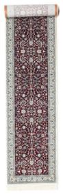 Nain Florentine - Dunkel Rot Teppich  80X350 Orientalischer Läufer Hellgrau/Dunkelbraun ( Türkei)