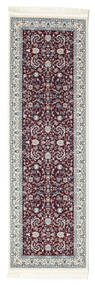 Nain Florentine - Dunkel Rot Teppich  80X300 Orientalischer Läufer Dunkelbraun/Hellgrau ( Türkei)