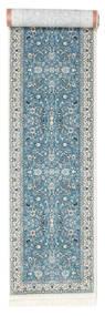Nain Florentine - Hellblau Teppich  80X400 Orientalischer Läufer Hellgrau/Hellblau ( Türkei)