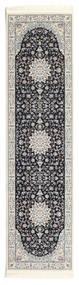 Nain Emilia - Dunkelblau Teppich  80X300 Orientalischer Läufer Hellgrau/Dunkelgrau ( Türkei)