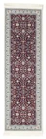 Nain Florentine - Dunkel Rot Teppich  80X200 Orientalischer Läufer Dunkelbraun/Hellgrau ( Türkei)