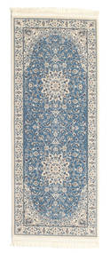 Nain Emilia - Hellblau Teppich  80X200 Orientalischer Läufer Hellgrau/Blau ( Türkei)