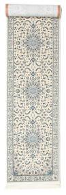 Nain Emilia - Cream/Hell Blau Teppich  80X350 Orientalischer Läufer Hellgrau/Beige ( Türkei)