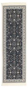 Nain Florentine - Dunkelblau Teppich  80X250 Orientalischer Läufer Dunkelgrau/Hellgrau ( Türkei)