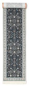 Nain Florentine - Dunkelblau Teppich  80X350 Orientalischer Läufer Hellgrau/Dunkelgrau ( Türkei)