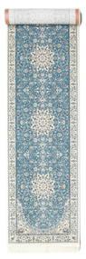 Nain Emilia - Hellblau Teppich  80X500 Orientalischer Läufer Hellgrau/Hellblau ( Türkei)