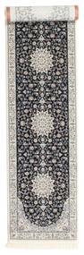Nain Emilia - Dunkelblau Teppich  80X500 Orientalischer Läufer Hellgrau/Schwartz ( Türkei)