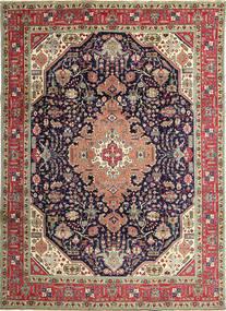 Täbriz Patina Teppich 250X350 Echter Orientalischer Handgeknüpfter Dunkelgrau/Braun Großer (Wolle, Persien/Iran)