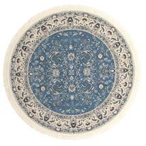 Nain Florentine - Hellblau Teppich  Ø 250 Orientalischer Rund Dunkelgrau/Hellgrau/Blau Großer ( Türkei)