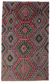 Kelim Halbantik Türkei Teppich  193X322 Echter Orientalischer Handgewebter Schwartz/Dunkelgrün (Wolle, Türkei)