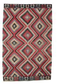 Kelim Halbantik Türkei Teppich  187X290 Echter Orientalischer Handgewebter Dunkelgrau/Hellgrau/Dunkelrot (Wolle, Türkei)