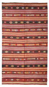 Kelim Halbantik Türkei Teppich  180X322 Echter Orientalischer Handgewebter Dunkelrot/Rost/Rot (Wolle, Türkei)