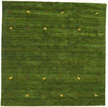 Gabbeh Loom Two Lines - Grün Teppich  200X200 Moderner Quadratisch Dunkelgrün (Wolle, Indien)
