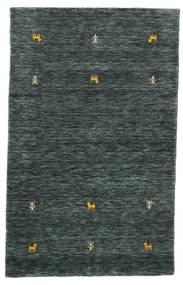 Gabbeh Loom Two Lines - Dunkelgrau/Grün Teppich  100X160 Moderner Schwartz/Dunkelgrau (Wolle, Indien)