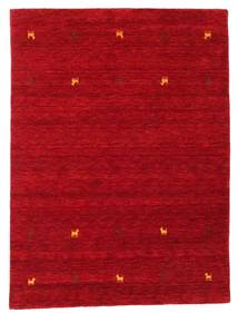 Gabbeh Loom Two Lines - Rot Teppich  140X200 Moderner Rot/Dunkelrot (Wolle, Indien)