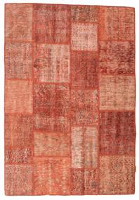 Patchwork Teppich  140X203 Echter Moderner Handgeknüpfter Rot/Dunkelrot/Hellrosa (Wolle, Türkei)