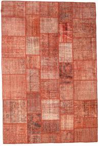 Patchwork Teppich  202X300 Echter Moderner Handgeknüpfter Rot/Hellrosa/Dunkelrot (Wolle, Türkei)
