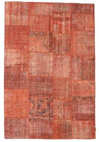 Patchwork Teppich  198X296 Echter Moderner Handgeknüpfter Rot/Hellrosa (Wolle, Türkei)