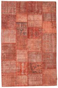 Patchwork Teppich  198X302 Echter Moderner Handgeknüpfter Rot/Dunkelrot (Wolle, Türkei)