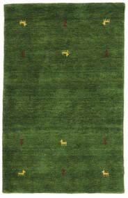 Gabbeh Loom Two Lines - Grün Teppich  100X160 Moderner Dunkelgrün (Wolle, Indien)
