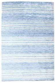 Bambus Seide Handloom Teppich  202X304 Echter Moderner Handgeknüpfter Hellblau/Beige ( Indien)
