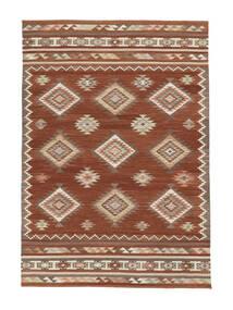 Kelim Malatya Teppich 160X230 Echter Moderner Handgewebter Rot/Hellbraun (Wolle, Indien)