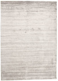 Bambus Seide Loom - Warm Grau Teppich  160X230 Moderner Hellgrau/Weiß/Creme ( Indien)