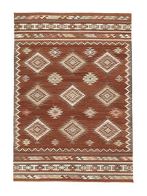 Kelim Malatya Teppich  190X290 Echter Moderner Handgewebter Dunkelrot/Rot (Wolle, Indien)