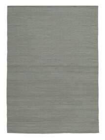 Kelim Loom - Grau Teppich  200X300 Echter Moderner Handgewebter Hellgrau (Wolle, Indien)