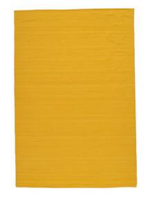 Kelim Loom - Gelb Teppich  160X230 Echter Moderner Handgewebter Orange/Gelb (Wolle, Indien)