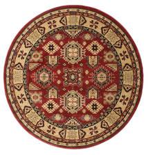 Schirwan Kazak Teppich  Ø 200 Orientalischer Rund Dunkelrot/Hellbraun ( Türkei)