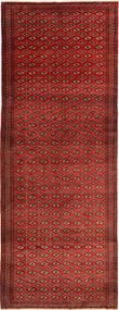 Turkaman Teppich  150X400 Echter Orientalischer Handgeknüpfter Läufer Dunkelrot/Dunkelbraun (Wolle, Persien/Iran)