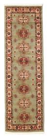 Marivan Kazak Teppich  80X250 Orientalischer Läufer Hell Grün/Braun ( Türkei)