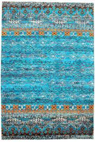 Quito - Türkis Teppich 190X290 Echter Moderner Handgeknüpfter Türkisblau/Blau (Seide, Indien)