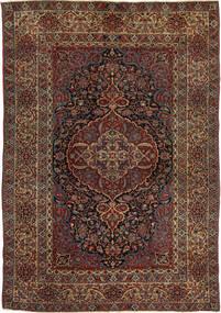 Isfahan Antik Teppich  147X215 Echter Orientalischer Handgeknüpfter Dunkelrot/Dunkelbraun (Wolle, Persien/Iran)
