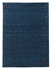 Gabbeh Loom Frame - Dunkelblau Teppich  160X230 Moderner Dunkelblau (Wolle, Indien)