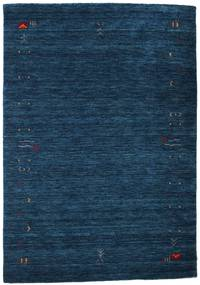 Gabbeh Loom Frame - Dunkelblau Teppich 140X200 Moderner Dunkelblau (Wolle, Indien)