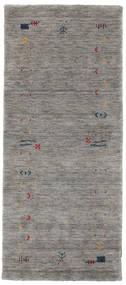 Gabbeh Loom Frame - Grau Teppich  80X200 Moderner Läufer Hellgrau/Dunkelgrau (Wolle, Indien)