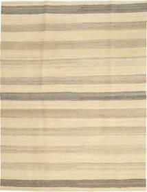 Kelim Modern Teppich  174X236 Echter Moderner Handgewebter Gelb/Dunkel Beige/Beige (Wolle, Persien/Iran)