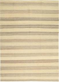 Kelim Modern Teppich  174X246 Echter Moderner Handgewebter Beige/Hellgrau (Wolle, Persien/Iran)
